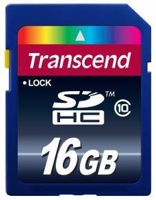 Transcend TS16GSDHC10 SDHC CARD [16GB SD 3.0 SPD Class 10]