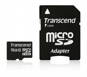 Transcend TS16GUSDHC10 MicroSDHC CARD [16GB Class10]