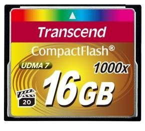 Transcend TS16GCF1000 CF Card [16GB 1000X TYPE I]