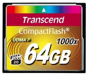 Transcend TS64GCF1000 CF Card [64GB 1000X TYPE I]