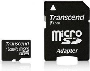 Transcend TS16GUSDU1 MicroSDHC [16GB Class10 U1 with adapter]