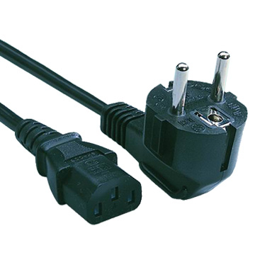 230V AC/10A Euro power cord UL/CSA 2ft (60cm)