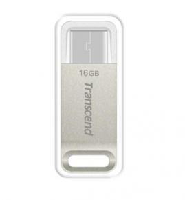 Transcend TS16GJF850S USB Flash Drive [16GB JetFlash 850  Silver Plating]