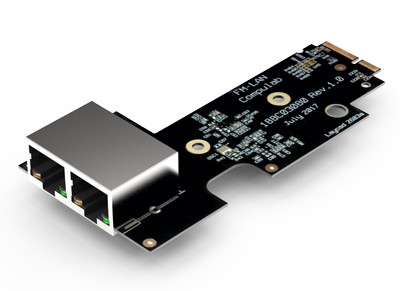 Fitlet2 - 2 LAN port FACE module extension - 2x 1GBit/s RJ45