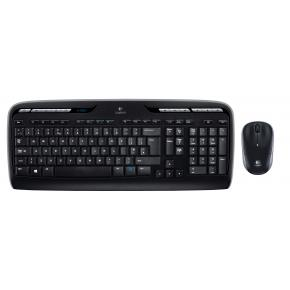 Logitech Wireless Desktop MK330, black