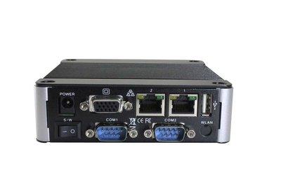EBOX-3332-L2222C2 - 2GB RAM. SD, SATA, 4xUSB (3 external, 1xinternal, VGA, Line-out, 2xFull RS422, 2xfull RS232, 2xLAN (1x100Mbps, 1x1Gbps)