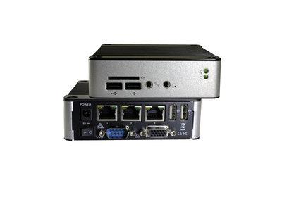EBOX-3360-L3U4C1 - Dual Core, 1GB RAM. SD, SATA, 4xUSB, VGA, Line-in/out, 1xFull RS232, 3xLAN (2x1Gbps, 1x100Mbps)